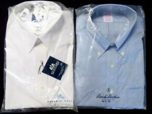 2 Mens Dress Shirts - STAFFORD wrinkle free 16/34 + BROOKS BROTHERS  16.5/35