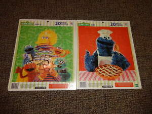 SESAME STREET 20PC BOARD PUZZLES LOT OF 2