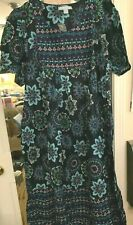 LOUNGER DRESS AUTUMN MULTI-PRINT NEW PACKAGE GREAT GIFT COMFORTABLE LONG LARGE
