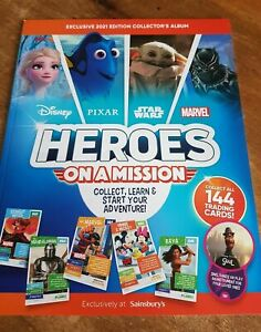 Sainsburys Disney Heroes On A Mission Card Collectors Album 2021