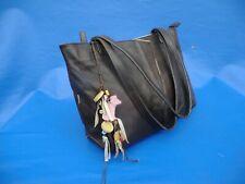 RADLEY  DARK BROWN LEATHER  SHOULDER BAG  with DOG + CHARM
