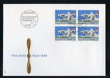 SCHWEIZ Nr.1369 VIERERBLOCK ESST BERN FDC - 140C. PRO AERO !!! (131916)