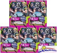 (5) 2017 Donruss Optic Football EXCLUSIVE Sealed Blaster Box-30 RC-MAHOMES RC YR