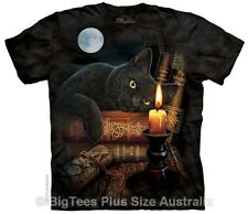 Witching Hour Black Cat T-Shirt - BigTees, Label USA XXL (Fits AUST 3XL/Size 22)
