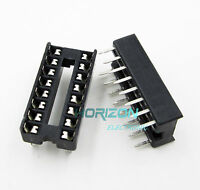 100PCS 16 Pin Integrated Circuit IC Sockets Adaptor Solder Type