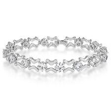 Dazzling Linked Bracelet Cubic Zirconia Bridal Wedding Fashion Jewellery Gift UK