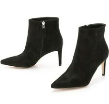 Sam Edelman Karen Black Suede  Stiletto Ankle Leather Booties Boot Size 9.5