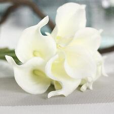 Artificial Real Touch Calla Lily Flower Wedding Bridal Home Garden Decor Bouquet