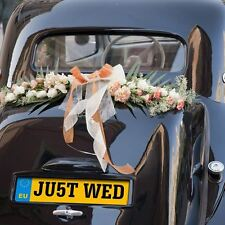 1 x JU5T WED Wedding Number Plate - Wedding Getaway Car