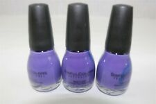LOT OF 3 SINFUL COLORS NAIL POLISH - AMETHYST - PURPLE 978