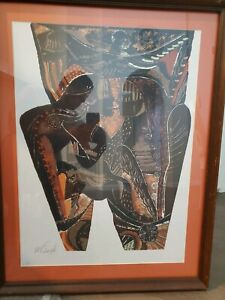 Moises Finale Serigraph. Hand signed and numbered edition of 60. Cuban art.