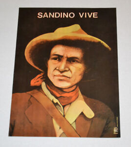Original Political POSTER.OSPAAAL.Nicaragua.Sandino Vive.Cuba propaganda art