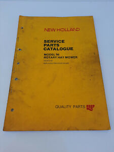Vintage New Holland Model 96 Rotary Hay Mower Service Parts Catalogue