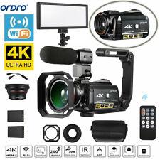 ORDRO AC3 4K WiFi Digital Video Camera Camcorder 24MP 30X Zoom IR Night Recoder
