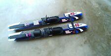 Jr HydroSlide Wide Track 138cm water skisJunior Trainers Girls Boys Waterskiing