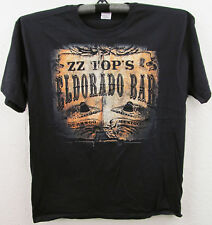 ZZ TOP El Dorado Bar T-shirt 2013 Tour Blues Rock Tee Adult 2XL Black New