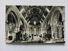 Loch Awe Argyll Vintage B&W Postcard c1953 St.Conan's Kirk The Choir