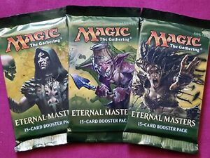 MTG Magic The Gathering ETERNAL MASTERS New Sealed Booster ALL 3 PACK ART