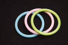 Women Retro Style Multicolored Trio of Simple Plain Plastic Bracelets (S487)