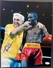 Pernell Whitaker & Lou Duva Signed Photo 11x14 JSA Autograph Boxing HOF