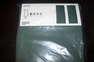 NEW Ikea MAJGULL Green Pair Of Curtains 145x250cm Block Out