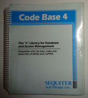 """CODE BASE 4 - """"C"""" Library for Database and Screen Management - BRAND NEW, SEALED"""