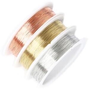Fil 0,2mm Cuivre Créatif Bijoux Perle Collier Bracelet Perles Bricolage Floral