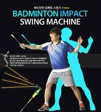 Pro Badminton Swing Machine Training Technic Speed Power Impact Point Racket
