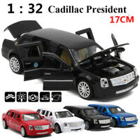 1:32 Diecast Cadillac Presidential Limousine Model Metal Car 6 Doors Toys UK