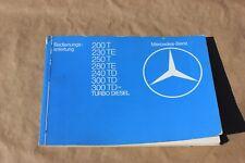 Mercedes Betriebsanleitung Handbuch  W123  Bedienungsanleitung 200 T - 300 TD