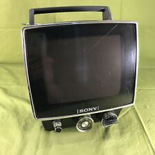 "Vintage Sony TV-740 B&W 7"" Portable Television"