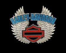 HARLEY DAVIDSON REBEL SPIRIT GLITTER PIN BAR AND SHIELD WITH WINGS