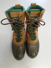 """L.L. Bean """"Bean Boots"""" brown leather and rubber, hunting boots, Men's 7 Wide"""