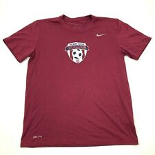Nike Perry High Pumas Shirt Size Medium Adult Maroon Red Dry Fit Short Sleeve T