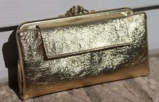 VTG Gold Foil Clutch Purse/wallet clasp Wedding accessory Good used condition