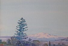 Mary Holden Bird Original Watercolour Painting - Mount Etna Sicily Italy