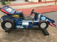 Vintage coin operated Formula 1 Lemans Racing Car Amusement Kiddie Ride & Works