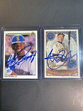 Lot of 2 signed cards Ken Griffey Jr. & Ichiro Suzuki. no COA