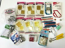 Vintage Sewing Notions Haberdashery Supplies Lot Buttons Snaps Needles Tools