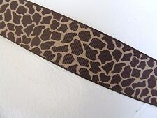 1 Metre 38 mm Orange//Tan Grosgrain Ribbon Animal Giraffe Print Card Embellishing
