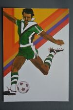 R&L Postcard: 1984 Los Angeles Olympics, Robert Peak, Soccer Football
