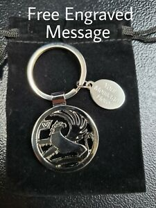 Personalised Vauxhall Logo Keyring | Engraved Message Tag & Gift Bag Included