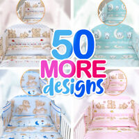 3 or 5 BABY BEDDING SET for Cot 120x60 or Cot Bed 140x70cm+TEDDY BEAR DESIGNS