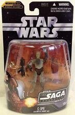 "C-3PO ( 4"" ) STAR WARS SAGA 2006 ACTION FIGURE #017 w/RED HAN SOLO HOLOGRAM FIG."