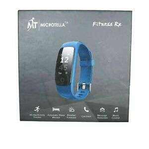 Microtella All Day Heart Rate and Activity Tracker Sleep  Blue IOS Android