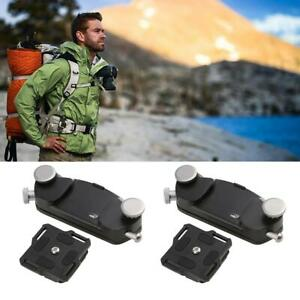 Metal Quick Release DSLR Camera Waist Belt Strap Buckle Button Mount Clip