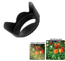 77mm Hard Tulip Flower Camera Lens Hood (Black)