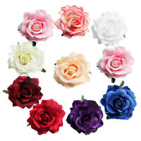 10x Artificial Silk Rose Flowers Heads DIY Wedding Scrapbooking Flower Kiss Ball