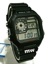 Latest Casio AE-1200WH-1A Resin Digital World Time Men's 100M Sports Alarm Watch