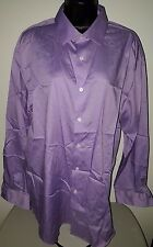 Kenneth Cole Reaction Mens Purple Button Down Shirt Size 16.5 32/33 Regular